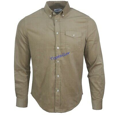 Men's Corduroy Ex Chainstore Men's Long Sleeves Cotton Winter Casual Shirt Top 5