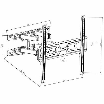 """Support TV mural orientable et inclinable 32""""-55"""" 82-138cm 32 40 42 46 50 52 55 6"""