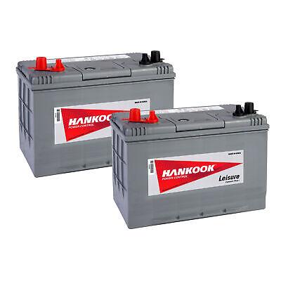2x 12V 90Ah Batterie Décharge Lente Pour Caravane, Camping Car et Bateau DC27 2