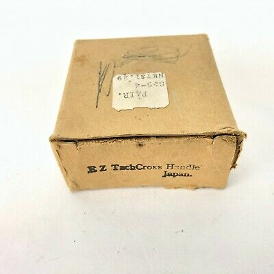 "VTG Hot Water Faucet Original Box HOT H X Cross Handle Chrome 2.5"" EZ Tach Japan 3"