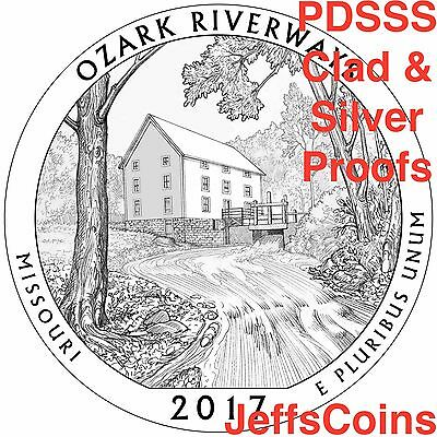 2018 PDSSS Pictured Rocks Park Quarter US Mint Clad & 90% Silver Proof P D S S S 5