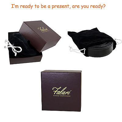 Falari® Men's Genuine Leather Dress Ratchet Belt 35mm Adjustable Size 7013 7