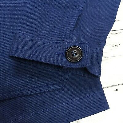 60s Style French Navy Blue Cotton Twill Canvas Chore Worker Jacket - All Sizes 4