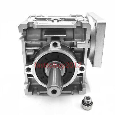50:1 Worm Worm Gearbox Reducer,Nema23 Flange 11mm Input,NMRV030 Gear for Stepper 7
