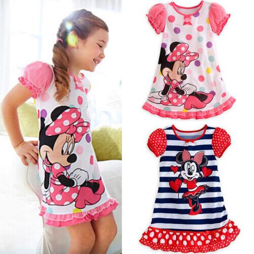 5cae669992c07 Tout-Petit Enfant Fille Minnie Mouse Princesse Anniversaire Tutu Jupe Robe  5 5 sur 12 ...
