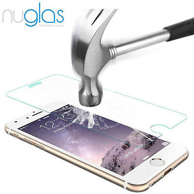 2x NUGLAS Tempered Glass Screen Protector for Apple iPhone X 8 7 6 5 Plus XS Max 8