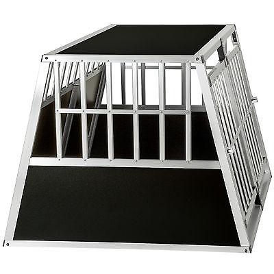 XXL Cage box caisse trapézoïdal de transport voyage pour chien mobile aluminium 5