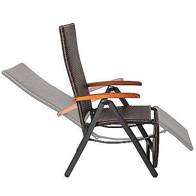 1 Sur 7 Relaxsessel Poly Rattan Aluminium Gartenstuhl Mit Fußstütze  Liegestuhl Garten