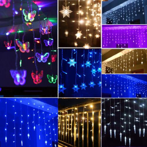 led lichtervorhang weihnachtsbeleuchtung lichterkette. Black Bedroom Furniture Sets. Home Design Ideas