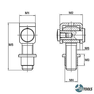 M16 M18 M20 M24 Torband einstellbar Torangel Scharnier Torscharnier teilverzinkt