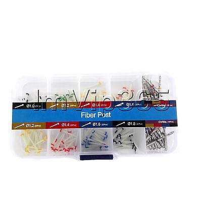 160 PCS Dental Glass Fiber Post Single Refilled Package & Free For 32 PCS Drills 3