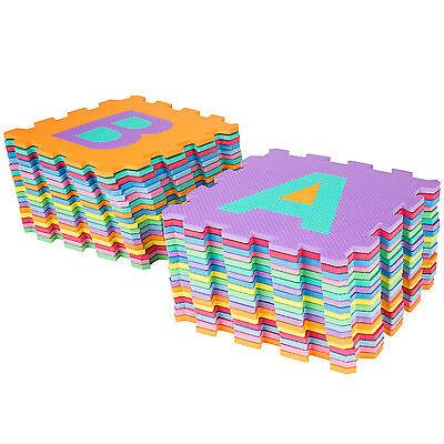 Manta de juegos alfabeto puzzle alfombra rompecabezas 86 piezas goma espuma EVA. 10