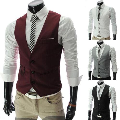 HERREN FREIZEIT ANZUGWESTE Formal Business Kleidung Weste