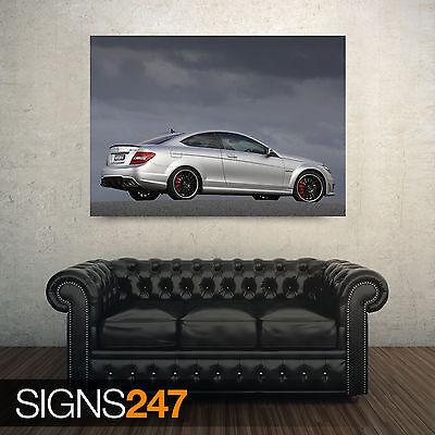 Mercedes-Benz SLK AMG Black CARS1085 Art Print Poster A4 A3 A2 A1