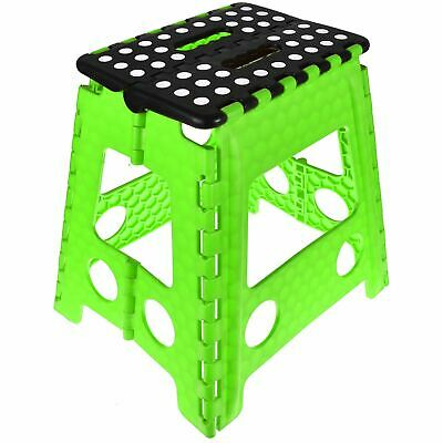 Plastic Folding Step Stool New Multi Purpose Kitchen Foldable Easy Storage Green 4