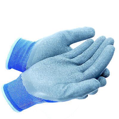 Arbeitshandschuhe Handschuhe Montagehandschuhe Latex Blau Grau Gr. 7-11 NEU TOP 5