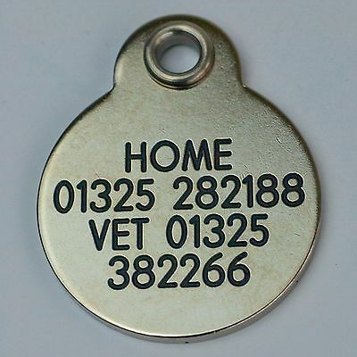 Deluxe ENGRAVED tags for Pets Brass or Nicron 2 sizes 6