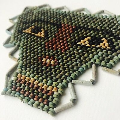 Ancient  Egyptian Multi-Coloured Faience Beads Mummy Mask Of Osiris 6
