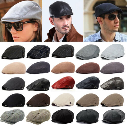 1509e8e97af07 Mens Vintage Baker Boy Caps Newsboy Hat Country Peaky Blinder Style Flat Cap  2 2 of 10 ...