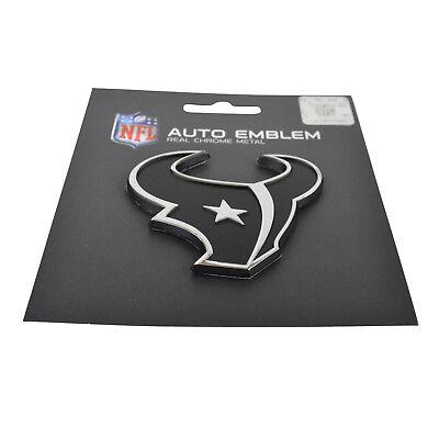 NFL Houston Texans Car Truck Real Chrome Metal Automotive Emblem