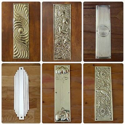 Brass Escutcheons Key Hole Cover 10 Door Knobs Handles Lock Finger Plate 3
