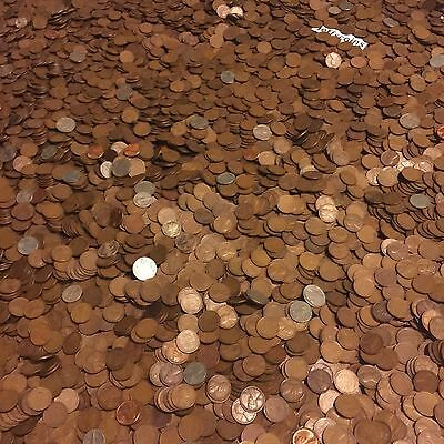 ✯1Lb Pound Unsearched Wheat Cents Lincoln Pennies✯Estate Sale Coins Lot✯1909-58✯ 8