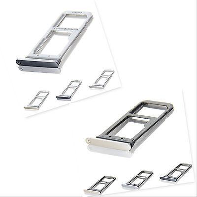 Genuine Samsung Galaxy S7 Edge Single Dual Sim Card Reader Holder Slot 2