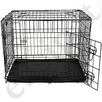 Dog Puppy Metal Training Cage Crate Black Carrier S M L XL XXL sizes Easipet 2