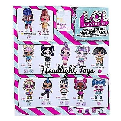 1 Authentic LOL Surprise SPARKLE SERIES Ball Big Sister Brother Dolls 2 3 4 5 6 9