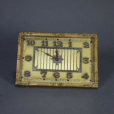Rare Doxa Watch Company Swiss 8 Day Folding Travel Desk Clock Works 4