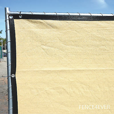 Tan Beige 6 X50 Fence Privacy Screen Windscreen Shade Cover Mesh