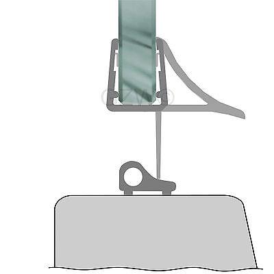 Duschdichtung Wasserabweiser Duschprofil Streifdichtung Schwall 5-8 mm, 20cm-2m 9