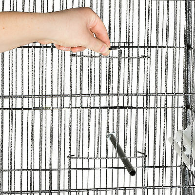 Volière cage à oiseaux canaries perruches perroquets metal 146x54x54cm 5