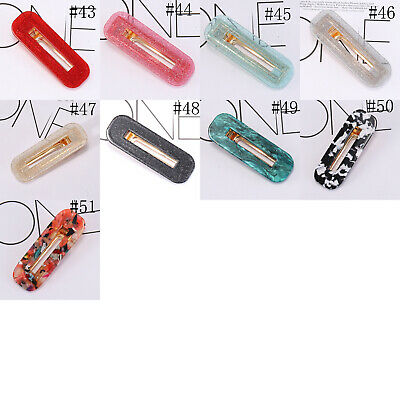 Fashion Women's Hair Slide Clips Snap Barrette Hairpin Pins Hair Accessories 9