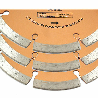3 Pack Pro 115mm x 22.2mm Mortar Raking Diamond Disc 4.5 Inch Saw Cutting Discs 2