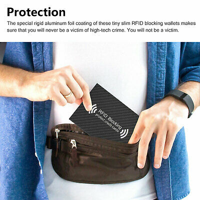 RFID Blocking Sleeve Credit Card Protector Anti Theft Safety Shield Case Cover 5