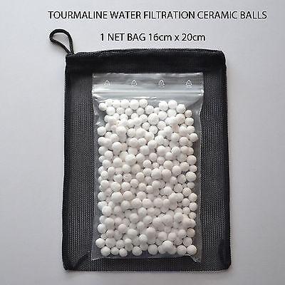 FISH & SHRIMP 100g =100 ltr TOURMALINE WATER FILTRATION CERAMIC BALLS+1 NET BAG 2