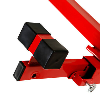 NEW 11' Drywall Lifter Panel Hoist Jack Rolling Caster Construction Lockable Red 12