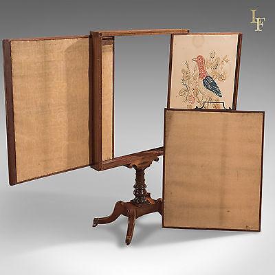Antique Tapestry Display Stand, Regency Mahogany Needlepoint English circa 1830 7
