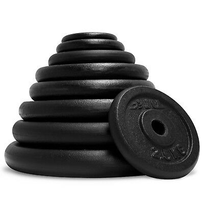 """JLL® Cast Iron 1""""Weight Plates for Dumbbell Weight Lifting Bars - 0.5kg to 20kg 2"""