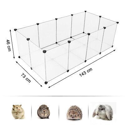 Freigehege mit Bodenplatten, Laufstall, Kunststoff Laufgitter Kleintiere LPC02W 5
