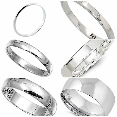 925 Solid Sterling Silver 2mm Flat Band Rings In Sizes G-Z AqTokDp