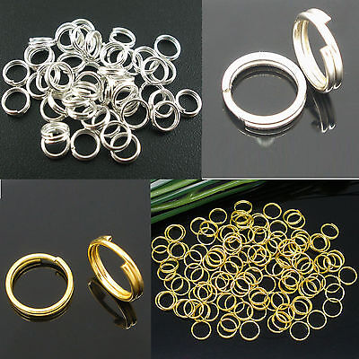 Wholesale Silver/Gold Open Double Split Jump Rings Finding 4/5/6/8/10/12/14mm