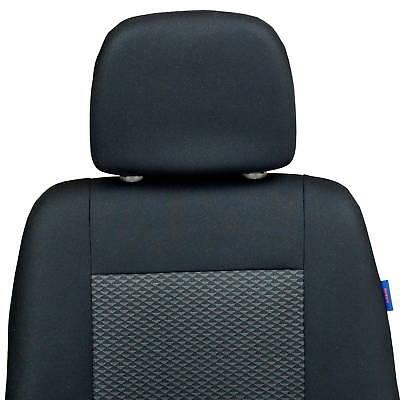 Schwarz-graue Dreiecke Sitzbezüge für VOLKSWAGEN LUPO Autositzbezug VORNE