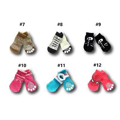 Dog Socks Non-Slip Grip Slip Anti-Skid S M L XL - Puppy Cat Pet Shoes Slippers 8