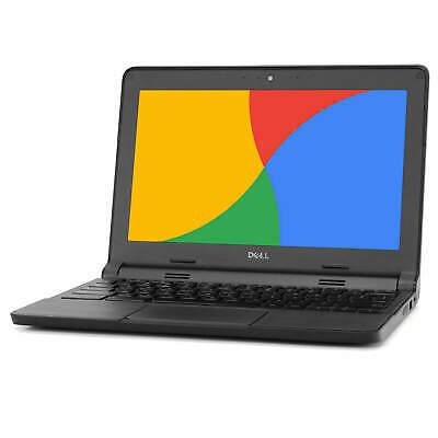 "Dell Chromebook 11.6"" Laptop Computer Intel Dual Core 4GB RAM 16GB SSD WiFi HDMI 3"