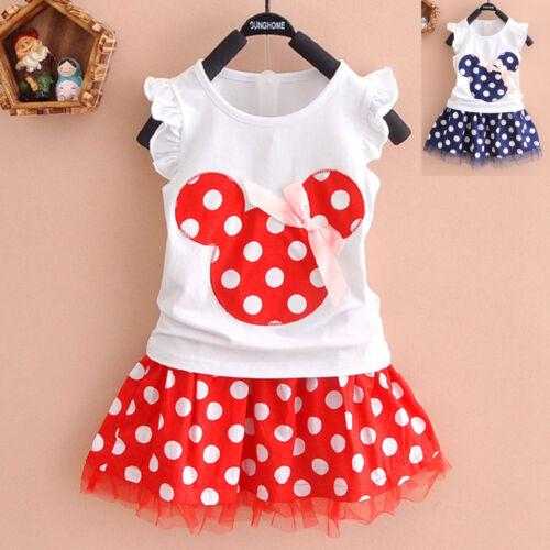 set gonna e maglietta Disney Completo per bambine tema Minnie