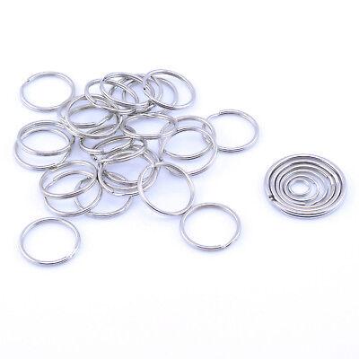Split Rings Key Ring 10mm 15mm 20mm 25mm 30mm 35mm Pack Size 10 - 1000 - Keyring 3