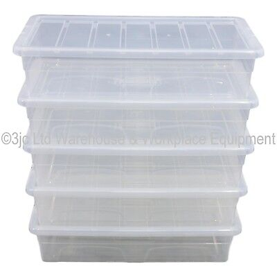 Spacemaster Clear Plastic Storage Box Boxes With Lids Removals House Home Garage 4