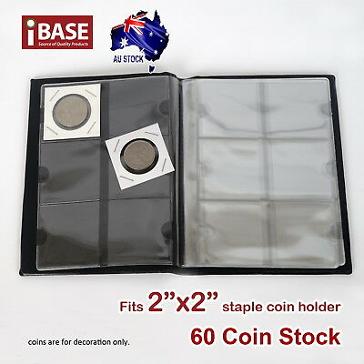 "Staple 2""X2"" Coin Holder Collection Collecting Album Stock Storage Pocket 60 3"